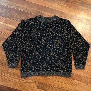 NWOT VTG 80s/90s Outer Space Theme Sweater Medium